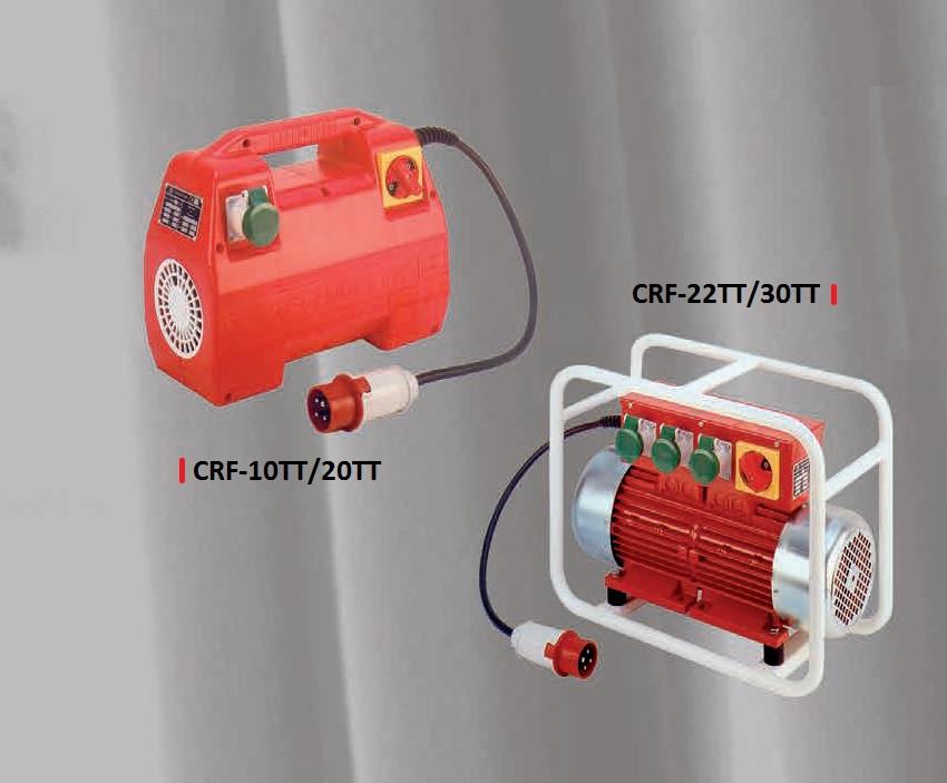 Convertizor de inalta frecventa, CRF-20TT, Motor Trifazic, 2 KVA, 2 iesiri 42 V/200 Hz, Carcasa Poliamida - Technoflex-141193R022 imagine criano.com