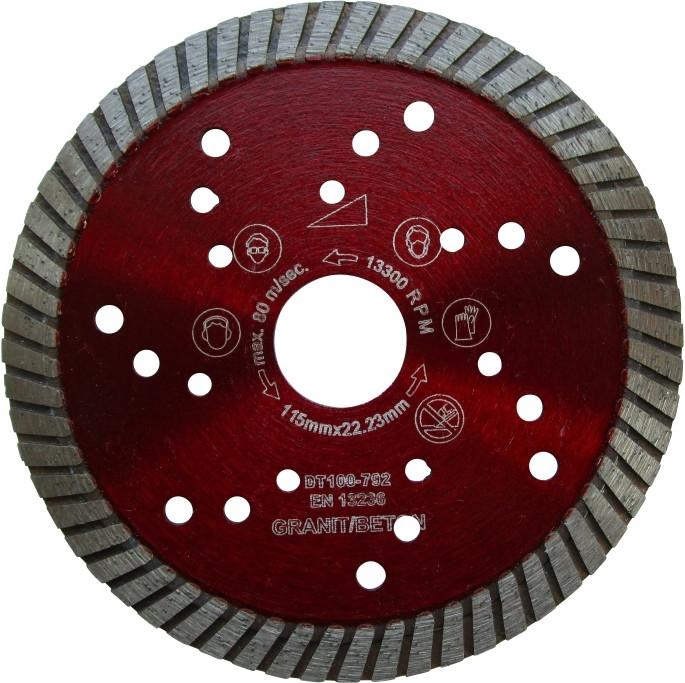 Disc DiamantatExpert pt. Granit & Piatra - Turbo 115x22.2 (mm) Super Premium - DXDH.2677.115 imagine criano.com