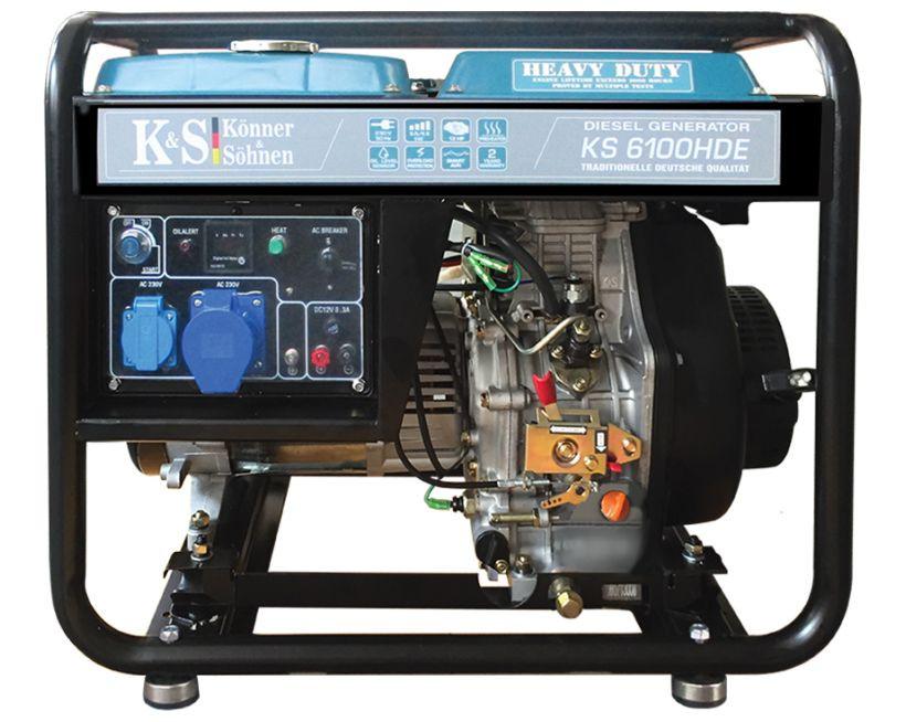 Generator de curent 5.5 kW diesel - Heavy Duty - Konner & Sohnen - KS-6100DE-HD imagine criano.com