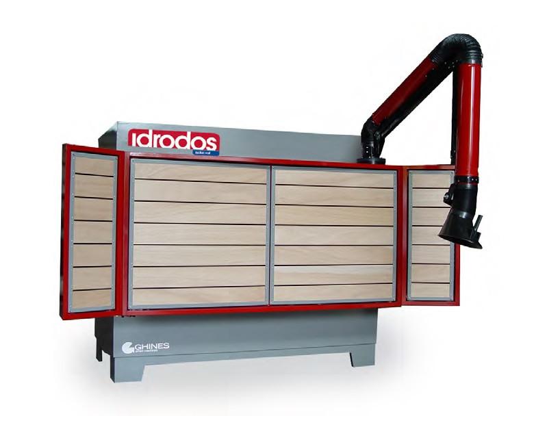 Banc de lucru vertical cu vacuum si exhaustare praf - Idrodos imagine criano.com