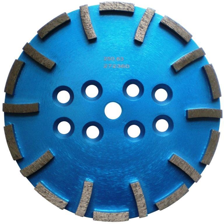 Disc cu segmenti diamantati pt. slefuire pardoseli - segment fin - Albastru - 250 mm - prindere 19mm - DXDH.8500.250.63 imagine criano.com