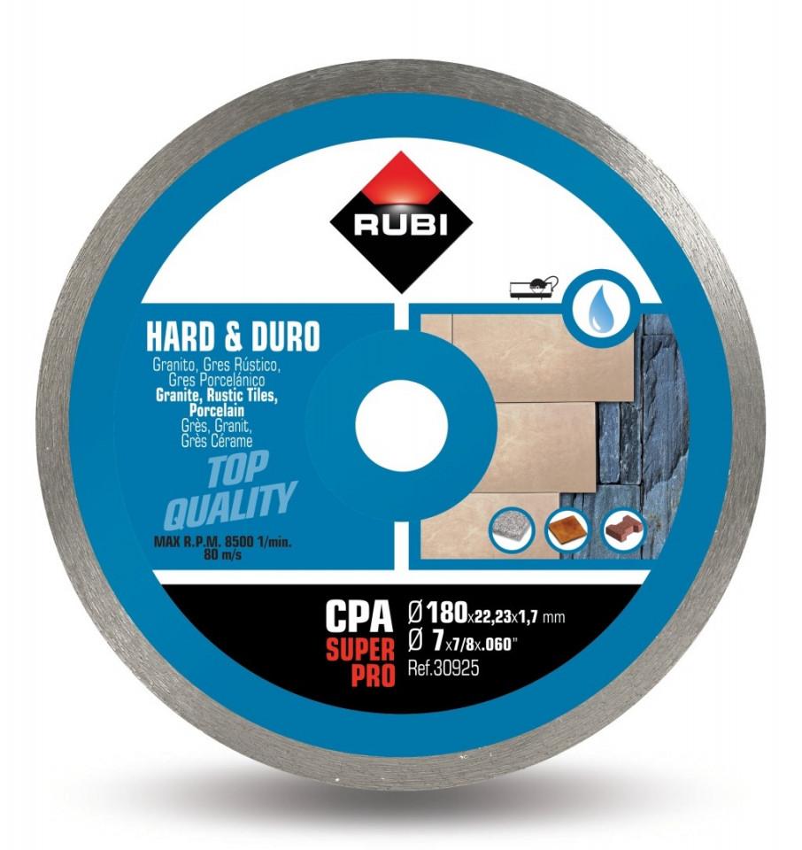 Disc diamantat pt. materiale foarte dure 180mm, CPA 180 SuperPro - RUBI-30925 imagine criano.com