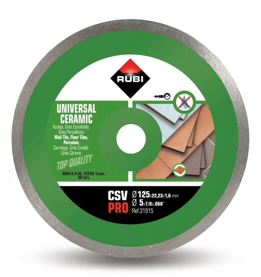 Disc diamantat pt. placi ceramice 125mm, CSV 125 Pro - RUBI-31915 imagine criano.com