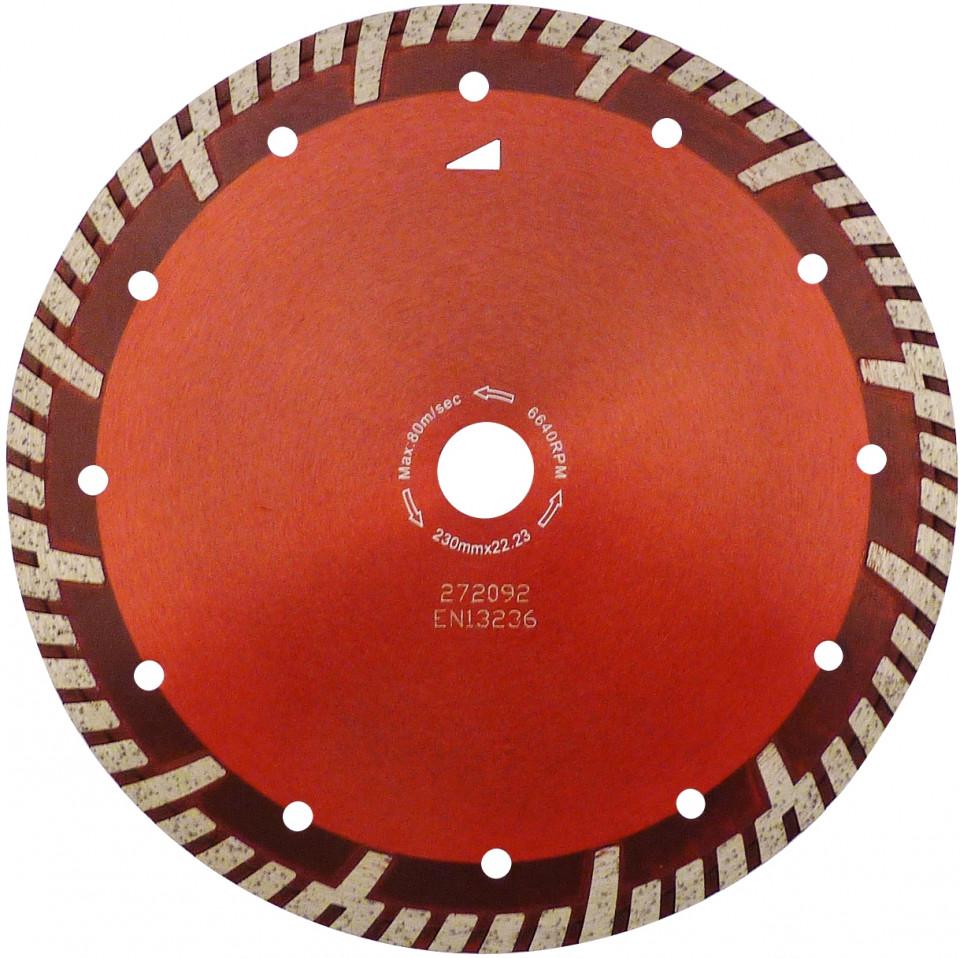 Disc DiamantatExpert pt. Beton armat & Granit - Turbo GS 350mm Super Premium - DXDH.2287.350 (Ø interior disc: 25,4mm) imagine criano.com