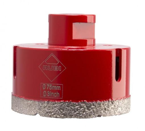 Carota diamantata pt. portelan, placi ceramice DryGres 75mm - RUBI-5992