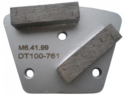 Placa cu segmenti diamantati pt. slefuire pardoseli - segment DPC dual - prindere M6 - DXDH.8506.41.99