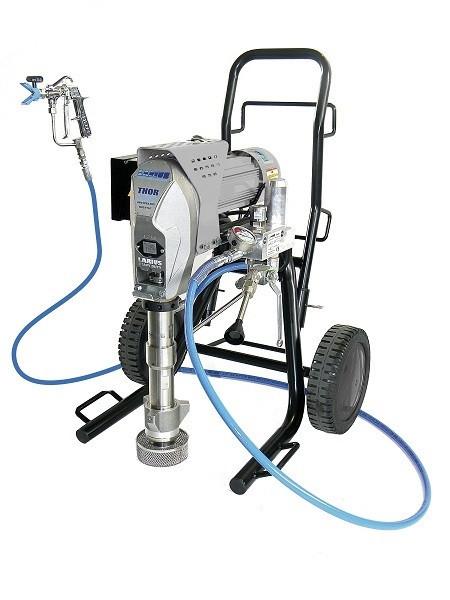 Pompa de vopsit / zugravit AIRLESS Industriala cu Carucior - Complet Echipata - 7,5L/min - Larius Thor