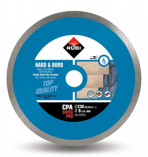 Disc diamantat pt. materiale foarte dure 230mm, CPA 230 SuperPro - RUBI-30928