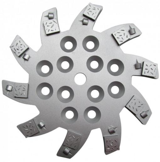 Disc stea cu segmenti diamantati pt. slefuire pardoseli - segment 10 buc DPC - 250 mm - prindere 19mm - DXDH.8501.250.75.010-R