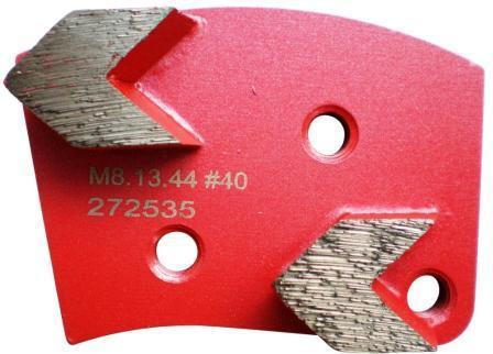 Placa cu segmenti diamantati pt. slefuire pardoseli - segment mediu (rosu) - # 40 - prindere M8 - DXDH.8508.13.44-L