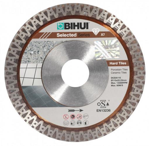 Disc Diamantat pt. Placi dure, Portelan dur, Placi ceramice 115x22.2 (mm) Super Premium - BIHUI-DCDA115
