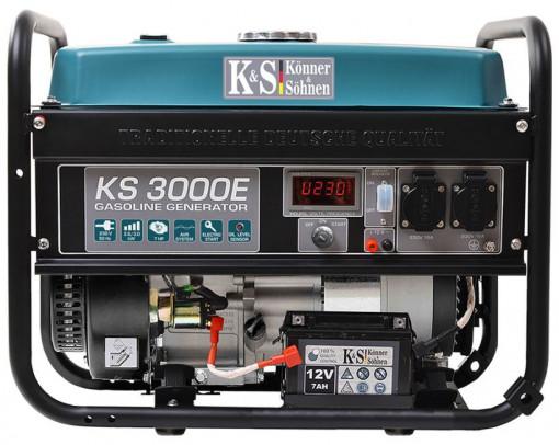 Generator de curent 3 kW benzina PRO - Konner & Sohnen - KS-3000E