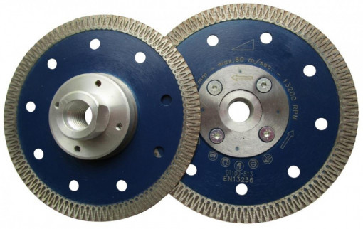 Disc DiamantatExpert pt. Ceramica dura, portelan, gresie 125xM14 (mm) Super Premium - DXDH.3901.125.M14