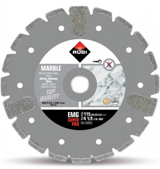 Disc diamantat galvanizat pt. marmura 115mm, EMG 115 SuperPro - RUBI-30995