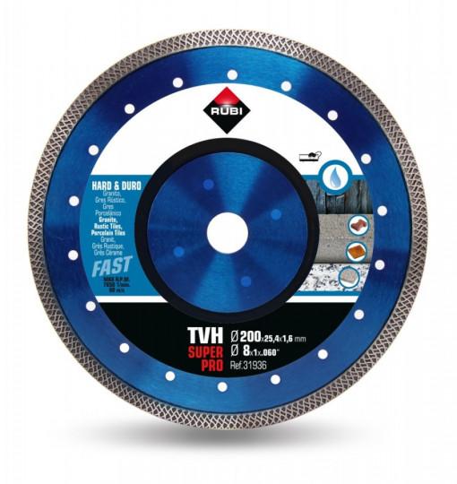 Disc diamantat pt. materiale foarte dure 200mm, TVH 200 SuperPro - RUBI-31936
