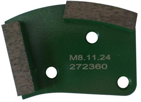 Placa cu segmenti diamantati pt. slefuire pardoseli - segment dur (verde) - # 40 - prindere M8 - DXDH.8508.11.24