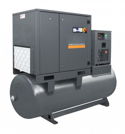 Compresor cu surub 15kW, 2250 L/min - Rezervor 500 Litri - WLT-15/500-P-COMBO