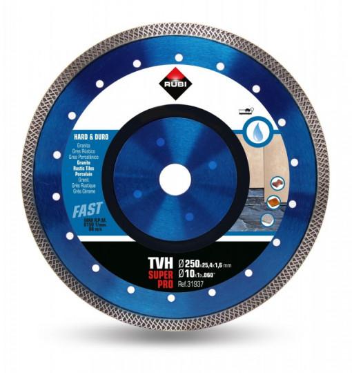 Disc diamantat pt. materiale foarte dure 250mm, TVH 250 SuperPro - RUBI-31937