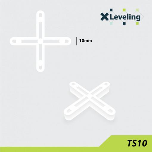 Distantieri ( Cruciulite ) pt. placi - gresie si faianta - Rost 10 mm - 250 buc - XLEV-TS10-250