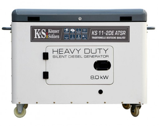 Generator de curent 8 kW diesel - Heavy Duty - insonorizat - Konner & Sohnen - KS-11-2DE-ATSR-Silent