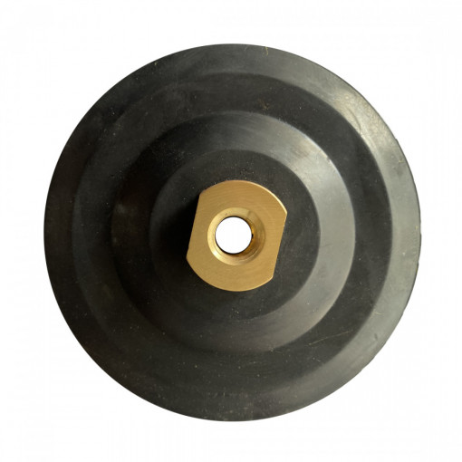 Suport flexibil pt. dischete / paduri diamantate cu velcro Ø125mm - prindere M14 -DXDY.PADSUP.RUB.125