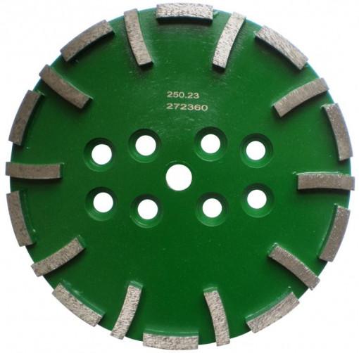 Disc cu segmenti diamantati pt. slefuire pardoseli - segment dur - Verde - 250 mm - prindere 19mm - DXDH.8500.250.23