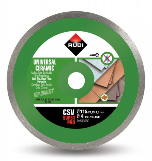 Disc diamantat pt. placi ceramice 115mm, CSV 115 SuperPro - RUBI-30882