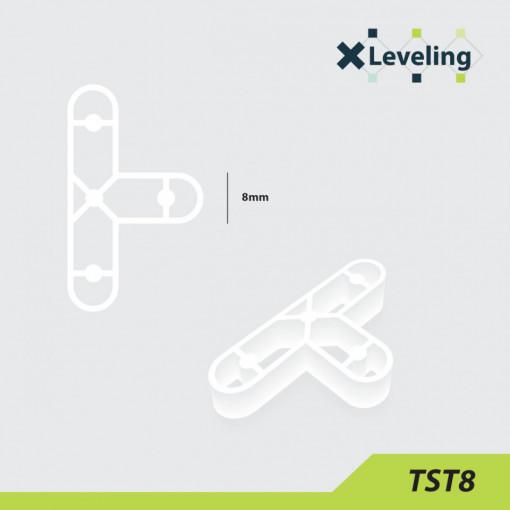 Distantieri tip T ( Teuri ) pt. placi - gresie si faianta - Rost 8 mm - 250 buc - XLEV-TST8-250