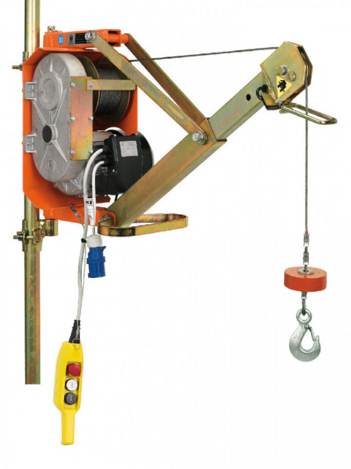 Electropalan Profesional cu Brat Extensibil 300 kg, 25 metri cablu - IORI-DM300AP-ELEF25m-LICHIDARE