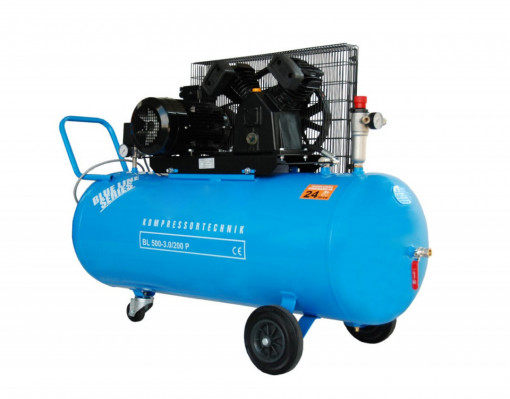 Compresor cu piston - Blue Line 3kW, 500 L/min - Rezervor 200 Litri - WLT-BLU-500-3.0/200