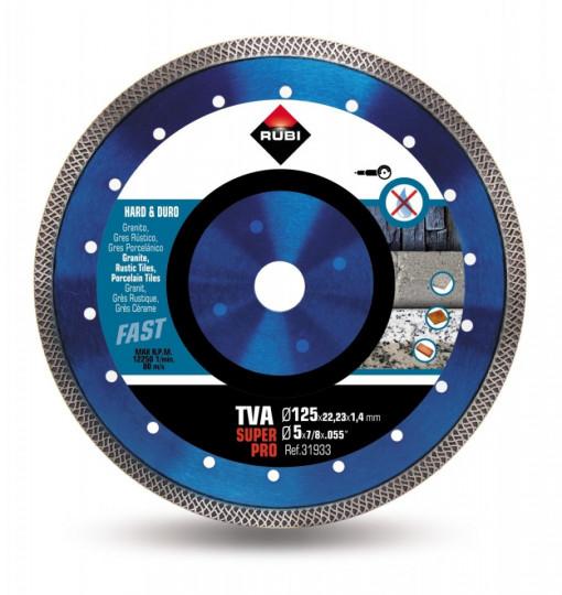 Disc diamantat pt. materiale foarte dure 125mm, TVA 125 SuperPro - RUBI-31933