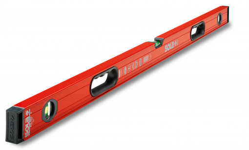 Nivelă cu bula ( Boloboc ) cu profil tubular, 150cm Big RED 3 150 - Sola-01219501