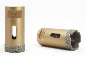 Carota diamantata pt. gresie portelanata & piatra - diam. 28mm - Premium - DXDY.GOLDrill.28