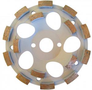 "Cupa diamantata rand dublu ""dinti scurti"" - Beton 230mm Profesional Standard - DXDH.4207.230"