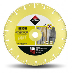 Disc diamantat pt. descarcerare 230mm, RSQ 230 Super Pro - RUBI-30902