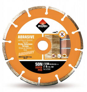 Disc diamantat pt. materiale abrazive 230mm, SON 230 SuperPro - RUBI-32908