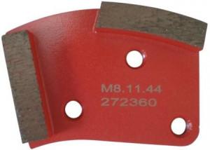 Placa cu segmenti diamantati pt. slefuire pardoseli - segment mediu (rosu) - # 40 - prindere M8 - DXDH.8508.11.44
