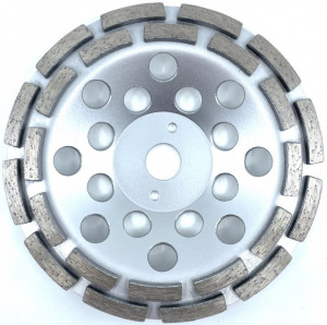 Cupa diamantata, rand dublu diamant - Beton/Abrazive 180mm Profesional Standard - DXDY.SDCC.180