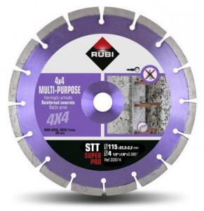 Disc diamantat multi-uz 115mm, STT 125 SuperPro - RUBI-30974