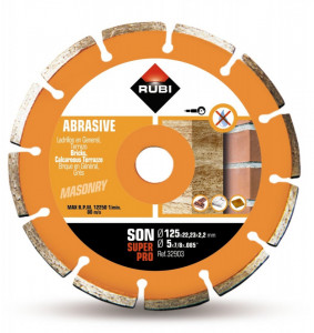 Disc diamantat pt. materiale abrazive 125mm, SON 125 SuperPro - RUBI-32903