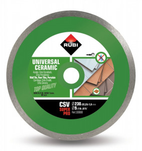 Disc diamantat pt. placi ceramice 230mm, CSV 230 SuperPro - RUBI-30888