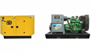 Generator stationar insonorizat DIESEL, 220kVA, motor Perkins, Kaplan KPP-220