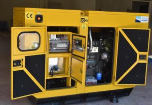 Generator stationar insonorizat DIESEL, 309kVA, motor Ricardo, Kaplan KPR-300