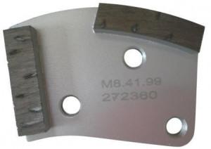Placa cu segmenti diamantati pt. slefuire pardoseli - segment DPC dual - prindere M8 - DXDH.8508.41.99