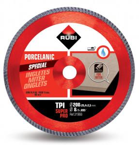 Disc diamantat pt. gresie portelanata, taieri oblice 200mm, TPI 200 SuperPro - RUBI-31966