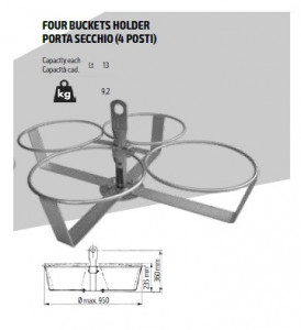 Suport 4 galeti din plastic pt. Electropalane IORI-BS4