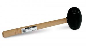 Ciocan din cauciuc negru rotund, 750g - RUBI-66910