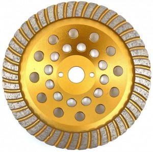Cupa diamantata, segment TURBO - Granit/Piatra 180mm Premium - DXDY.PTGC.180