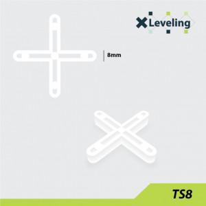 Distantieri ( Cruciulite ) pt. placi - gresie si faianta - Rost 8 mm - 250 buc - XLEV-TS8-250