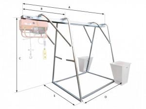 Stand metalic cu sina suport pt. Electropalane pana la 500kg IORI-CAV500